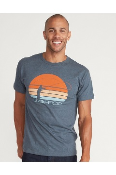 Men's Sunset Short-Sleeve T-Shirt, Navy Heather, medium