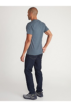 Men's Sunset Short-Sleeve T-Shirt, Navy Heather, medium