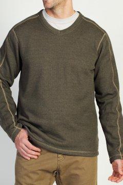 Ruvido V Neck Sweater, Loden, medium