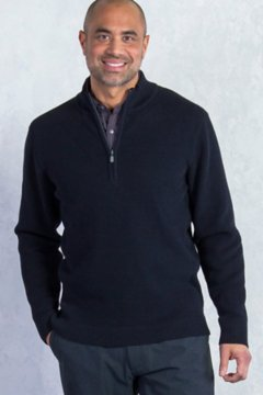 Teplo 1/4 Zip, Black, medium