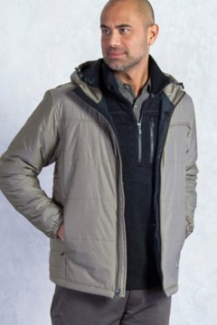 Cosimo Hooded Jacket, Cigar, medium