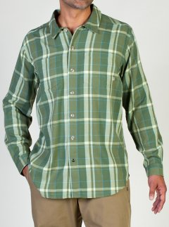 BugsAway Talisman Plaid L/S, Olive, medium