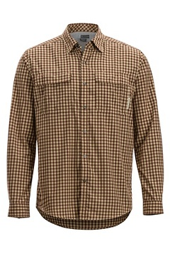 Men's BugsAway Halo Check Long-Sleeve Shirt, Retro Red, medium
