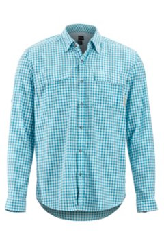 BugsAway Halo Check LS Shirt, Air Blue, medium