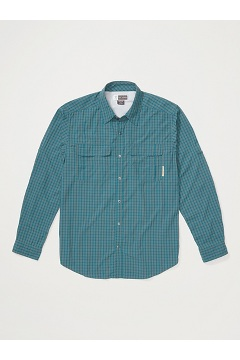 Men's BugsAway Halo Check Long-Sleeve Shirt, Ponderosa, medium