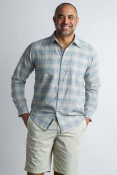 BugsAway Poros Plaid L/S, Corsair, medium