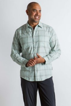 BugsAway Poros Plaid L/S, Dusty Sage, medium