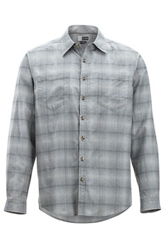 BugsAway Poros Plaid L/S, Pebble, medium