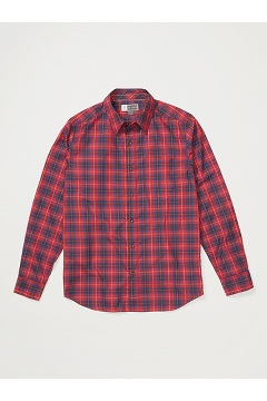 Men's BugsAway Covas Long-Sleeve Shirt, Scarlet Sage, medium