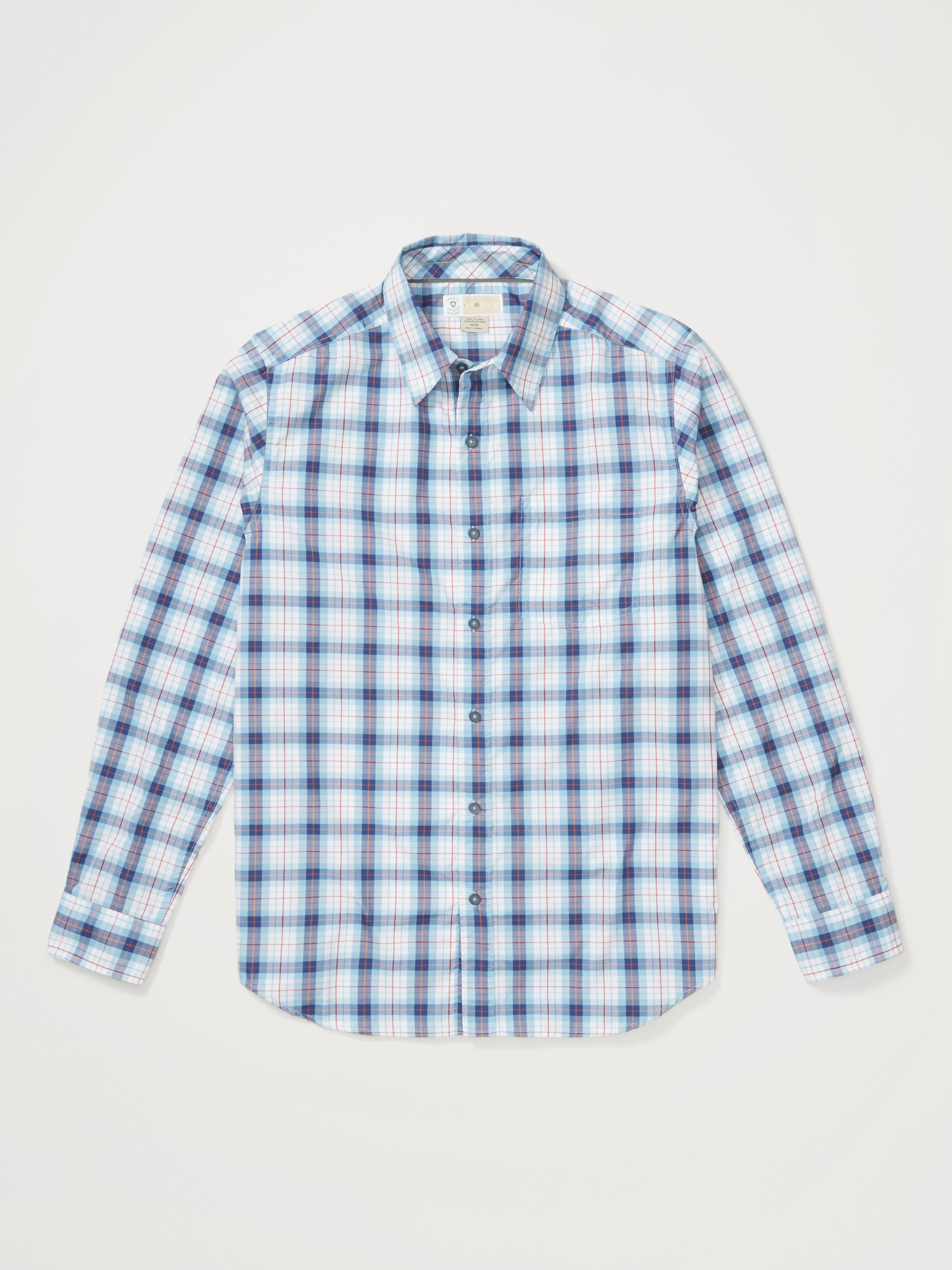 ExOfficio Mens Okanagan Mini Check Long Sleeve Shirt 10012963-5600/_XL