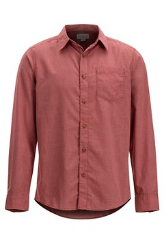 Men's BugsAway Corfu Long-Sleeve Shirt, Retro Red, medium