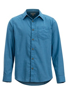 Men's BugsAway Corfu Long-Sleeve Shirt, Deep Water, medium