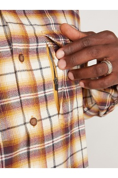 Men's BugsAway Redding Midweight Flannel Shirt, Gold Flame, medium