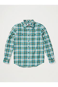 Men's BugsAway Redding Midweight Flannel Shirt, Algiers Blue, medium