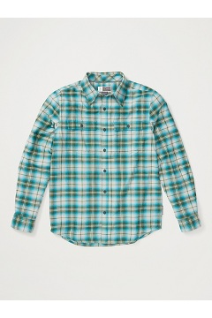 Men's BugsAway Redding Midweight Flannel Shirt, Algiers Blue, medium