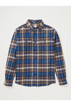 Men's BugsAway Redding Midweight Flannel Shirt, Navy, medium