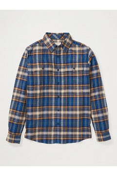Men's BugsAway Redding Midweight Flannel Shirt, Navy, medium