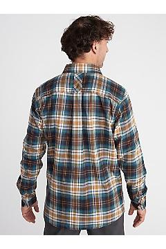 Men's BugsAway Redding Midweight Flannel Shirt, Gold Flame, medium