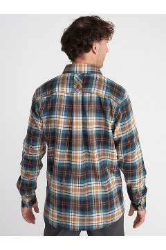 Men's BugsAway Redding Midweight Flannel Shirt, Black, medium