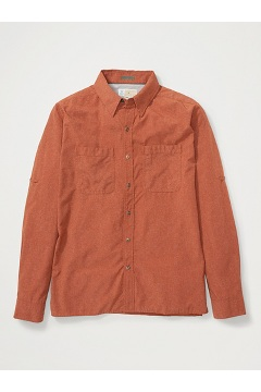 Men's BugsAway Tiburon Long-Sleeve Shirt, Rust, medium