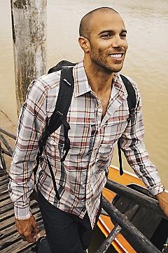 Men's BugsAway Garlock Long-Sleeve Shirt, Koi, medium
