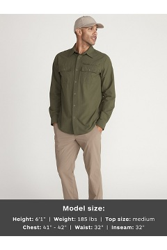 Men's BugsAway Arcan Long-Sleeve Shirt, Nori, medium