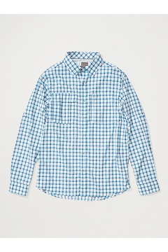Men's BugsAway Halo Long-Sleeve Shirt, Clear Blue, medium