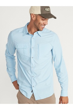 Men's BugsAway Halo Long-Sleeve Shirt, Blue Bell, medium
