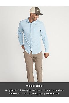 Men's BugsAway Halo Long-Sleeve Shirt, Blue Bell, medium