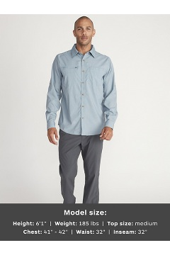 Men's BugsAway San Gil Long-Sleeve Shirt, Sleet, medium