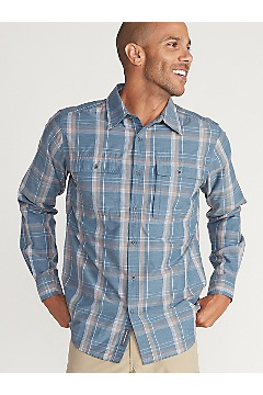 Men's BugsAway Ashford Long-Sleeve Shirt, Galaxy Heather, medium