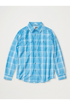 Men's BugsAway Ashford Long-Sleeve Shirt, Clear Blue Heather, medium