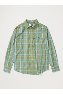 Men's BugsAway Ashford Long-Sleeve Shirt, Alpine Green Heather, medium