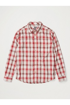 Men's BugsAway Panamint Long-Sleeve Shirt, Scarlet Sage, medium