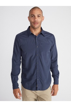 Men's BugsAway Panamint Long-Sleeve Shirt, Navy, medium