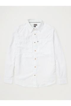 Men's BugsAway Parkes UPF 30 Long-Sleeve Shirt, White, medium
