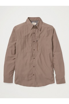 Men's BugsAway Parkes UPF 30 Long-Sleeve Shirt, Walnut Brown, medium
