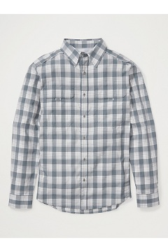 Men's BugsAway Monto UPF 50 Long-Sleeve Shirt, Stormy Weather, medium