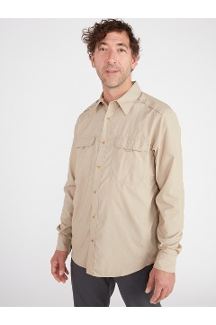 Men's BugsAway Monto UPF 50 Long-Sleeve Shirt, Tawny, medium