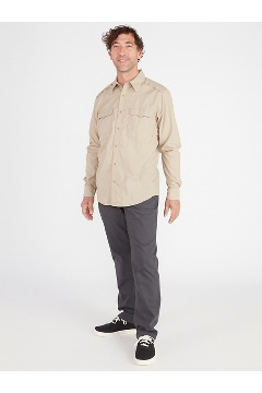Men's BugsAway Monto UPF 50 Long-Sleeve Shirt, Stormy Weather, medium