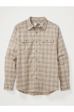 Men's BugsAway Kempsey Lightweight UPF 50 Long-Sleeve Flannel Shirt, Scotch, medium