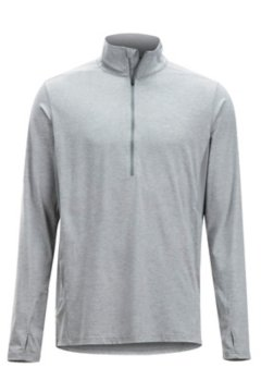 BugsAway Sol Cool LS Zip Neck, Grey Storm, medium
