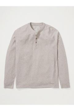 Men's BugsAway Coledale Henley Long-Sleeve Shirt, Walnut Brown, medium