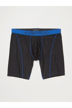 Men's Give-N-Go Sport Mesh 9'' Boxer Brief, Black/Royal, medium