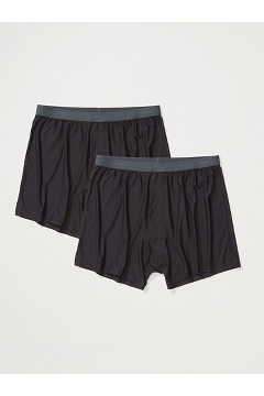 Men's Give-N-Go 2.0 Boxer 2-Pack, Black, medium