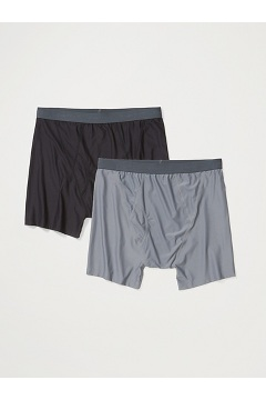 Men's Give-N-Go 2.0 Boxer Brief 2-Pack, Black/Steel Onyx, medium