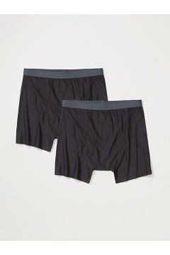 Men's Give-N-Go 2.0 Boxer Brief 2-Pack, Black, medium