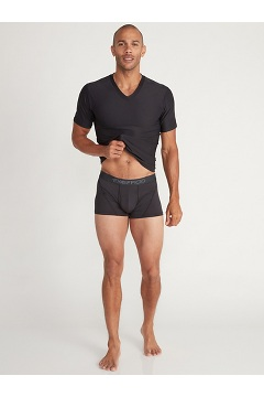 Men's Give-N-Go 2.0 Sport Mesh 3'' Boxer Brief, Black/Scarlet Sage, medium