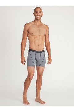 Men's Give-N-Go 2.0 Sport Mesh 6'' Boxer Brief, Steel Onyx/Black, medium