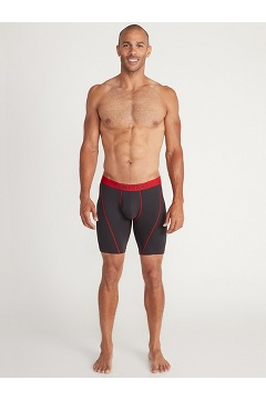 Men's Give-N-Go 2.0 Sport Mesh 9'' Boxer Brief, Black/Scarlet Sage, medium